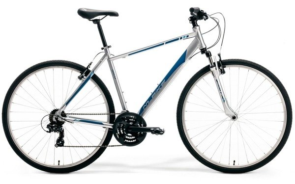 M-BIKE CROSS 5-V L(56) silver/dark blue/blue rower