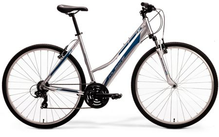 M-BIKE CROSS 5-V LADY S(46) silver/dark blue/blue rower