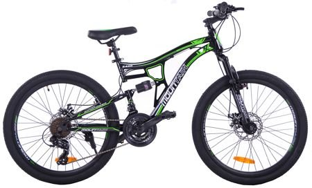 "MOUNTAIN FULL 24""  2XT FD/RD rower black/green"