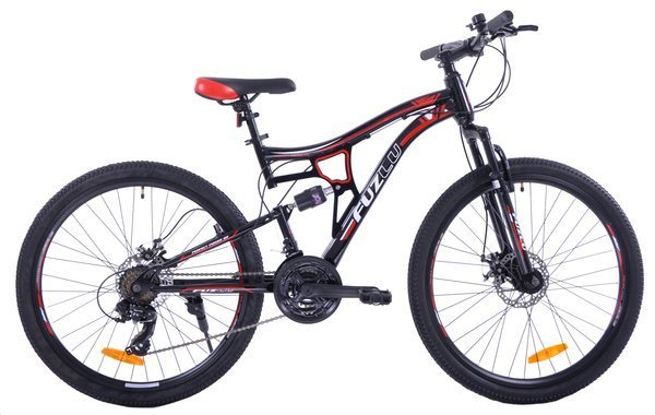 "MOUNTAIN FULL 24"" 2XT FD/RD rower black/red"