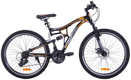 "MOUNTAIN FULL 26"" 1XT FD/RV black/orange"