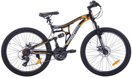 "MOUNTAIN FULL 26"" 2XT FD/RD black/orange"