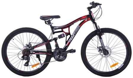 "MOUNTAIN FULL 26"" 2XT FD/RD black/red"