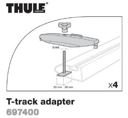 Adapter Thule do belek z rowkiem Powergrip / Fastgrip