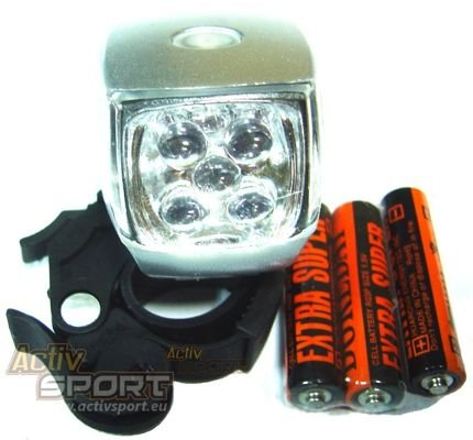 LAMPA PRZÓD X-LIGHT 5 LED +3XAAA BATERIE XC-761