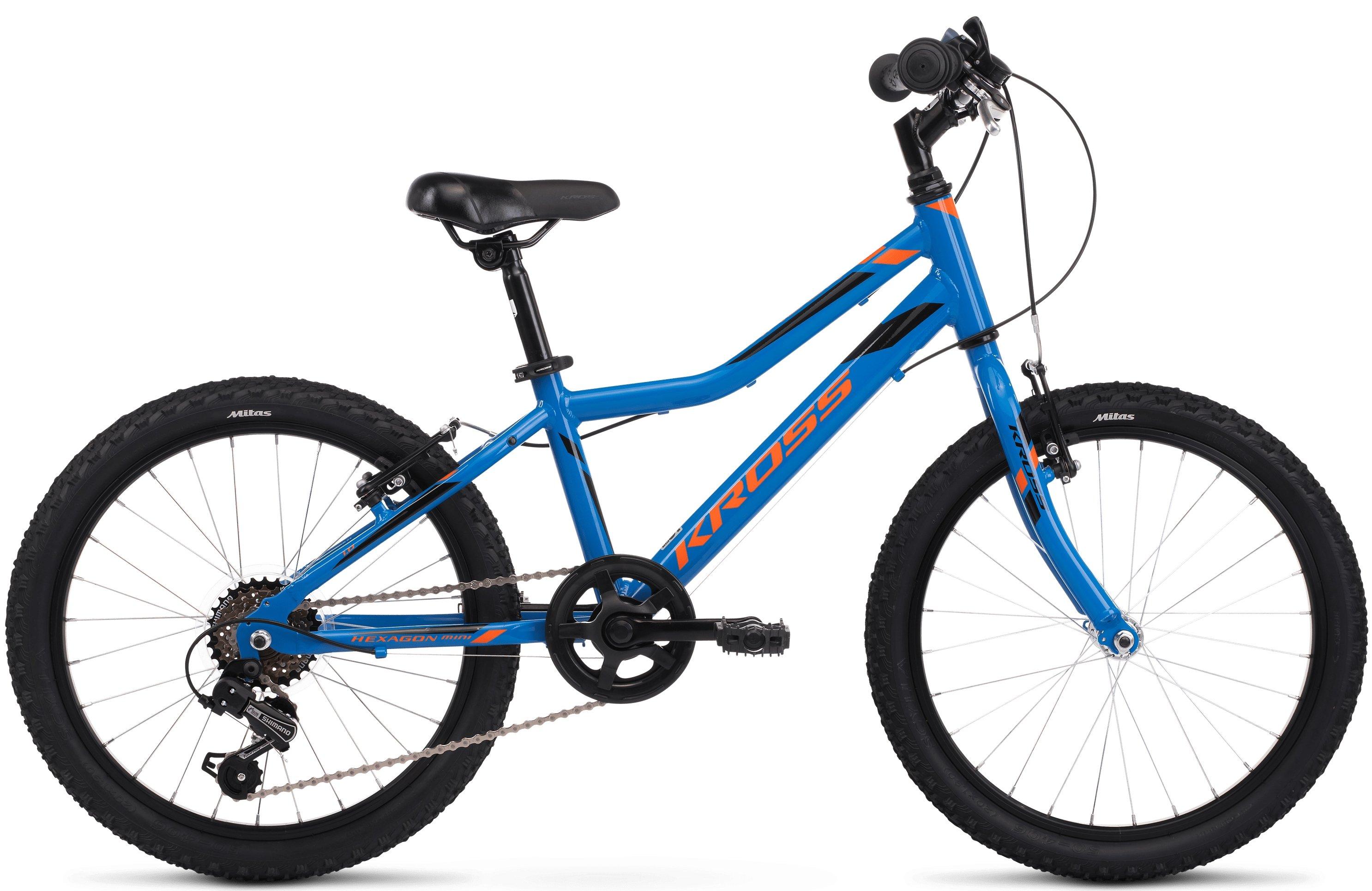Kross Hexagon Mini 1.0 M rower 20 niebieskipomarańczowy połysk